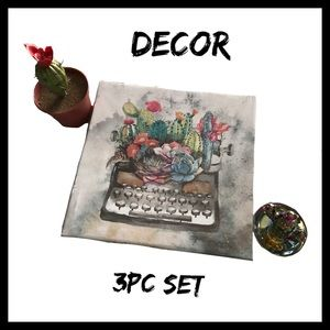 Other - Cactus/Succulent 3pc Decor Set NWT Y2